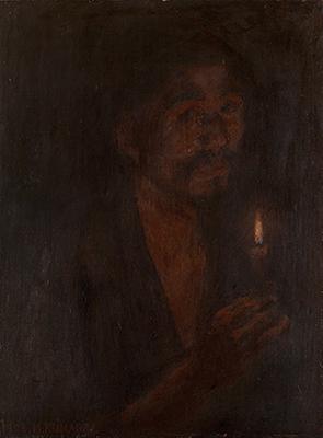 熊谷守一 《蝋燭》 1909年 岐阜県美術館
