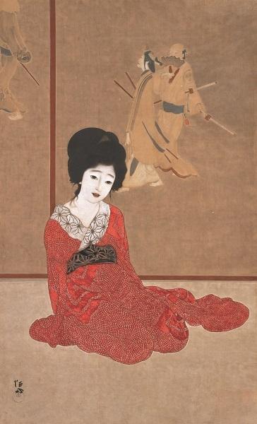 ≪暖か≫大正4年(1915) 滋賀県立近代美術館 ≪鏡の前≫と対に描かれた作品