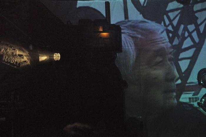イベントの最後に流された松本雄吉の映像。