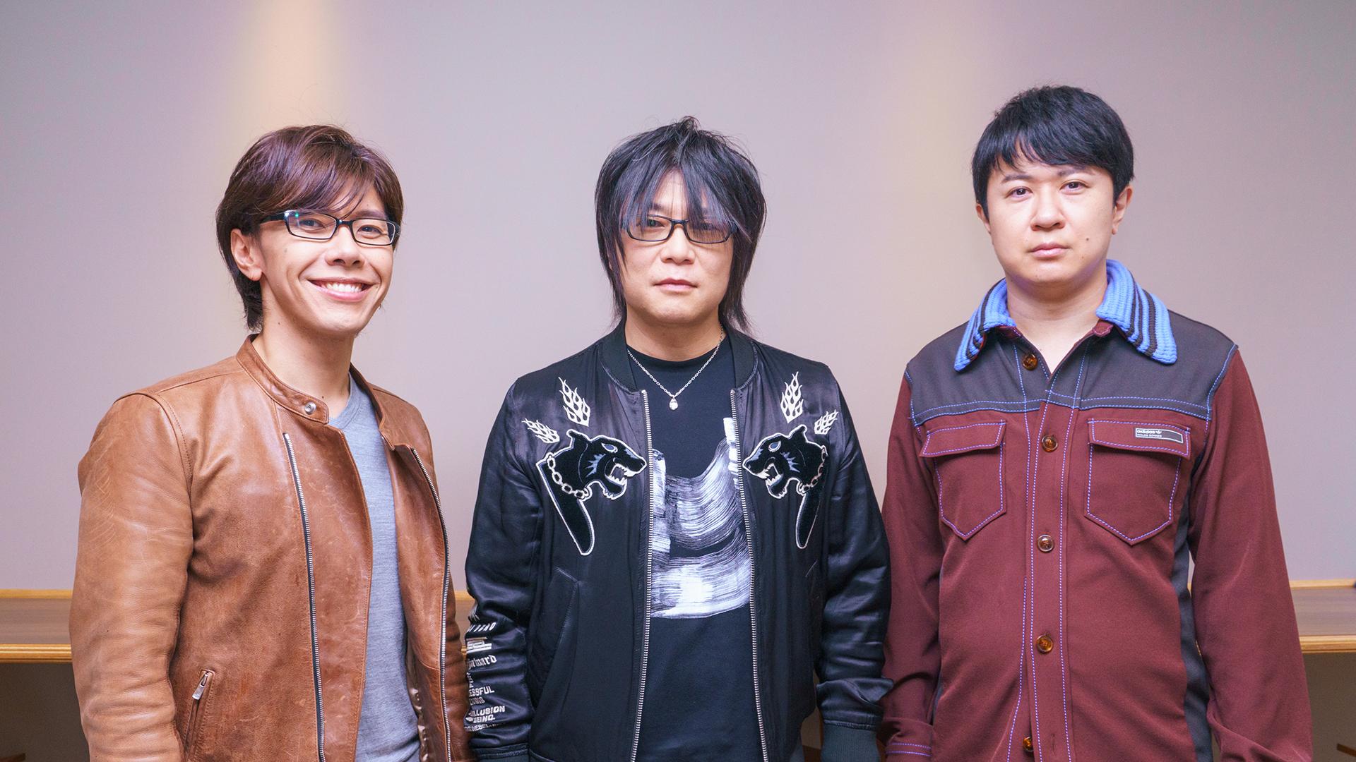 写真左から佐藤拓也、森川智之、杉田智和