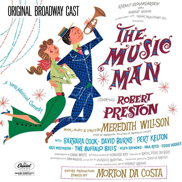 『ザ・ミュージックマン』(1957年)のオリジナル・キャストLP。一家に一枚の定番レコードだった。