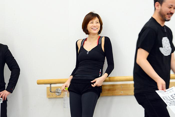 米倉涼子 『シカゴ』稽古場