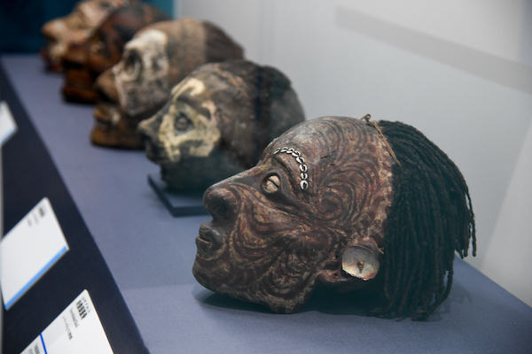 《肖像頭蓋骨》の展示風景