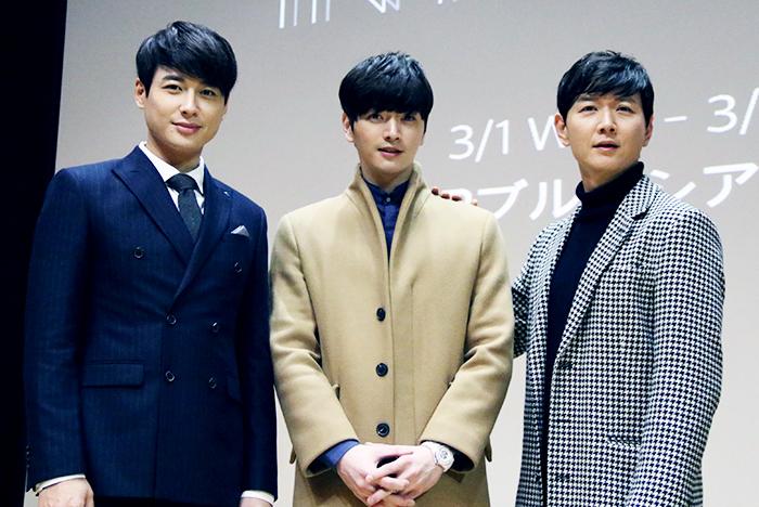 (左から)イ・ジフン、ソンジェ(超新星)、イ・ゴンミョン