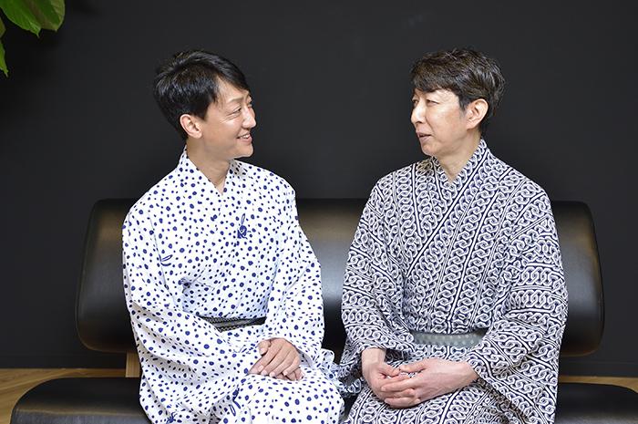 (左から)河合雪之丞、篠井英介