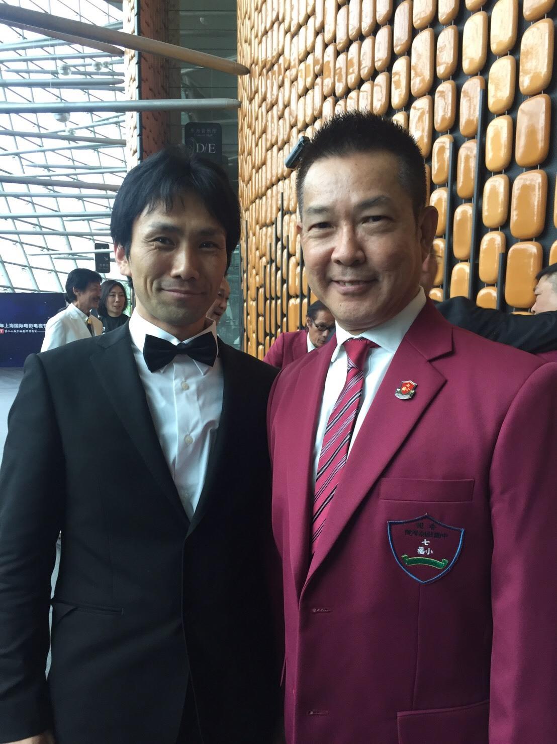 左から、下村勇二監督、ユン・ピョウ