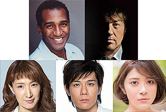 左上から時計回りに、ノーム・ルイス、ジョン・オーウェン=ジョーンズ、宮澤エマ、柿澤勇人、春野寿美礼
