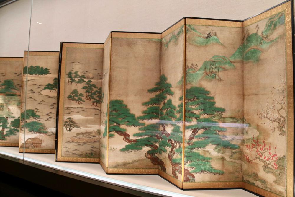 浜松図屛風 室町時代・15世紀 文化庁蔵