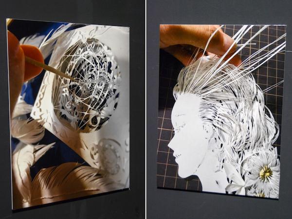 制作過程を伝える写真も展示