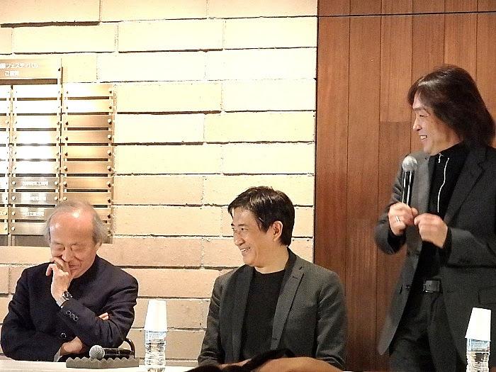 左から、尾高忠明、藤岡幸夫、飯森範親