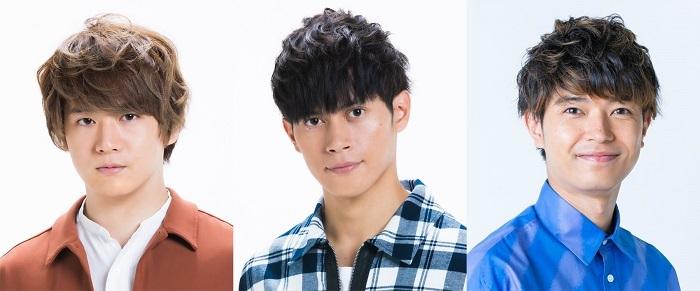 (写真左から) 冨岡健翔(ジャニーズJr.)、福士申樹(ジャニーズJr.)、高田翔(ジャニーズJr.)