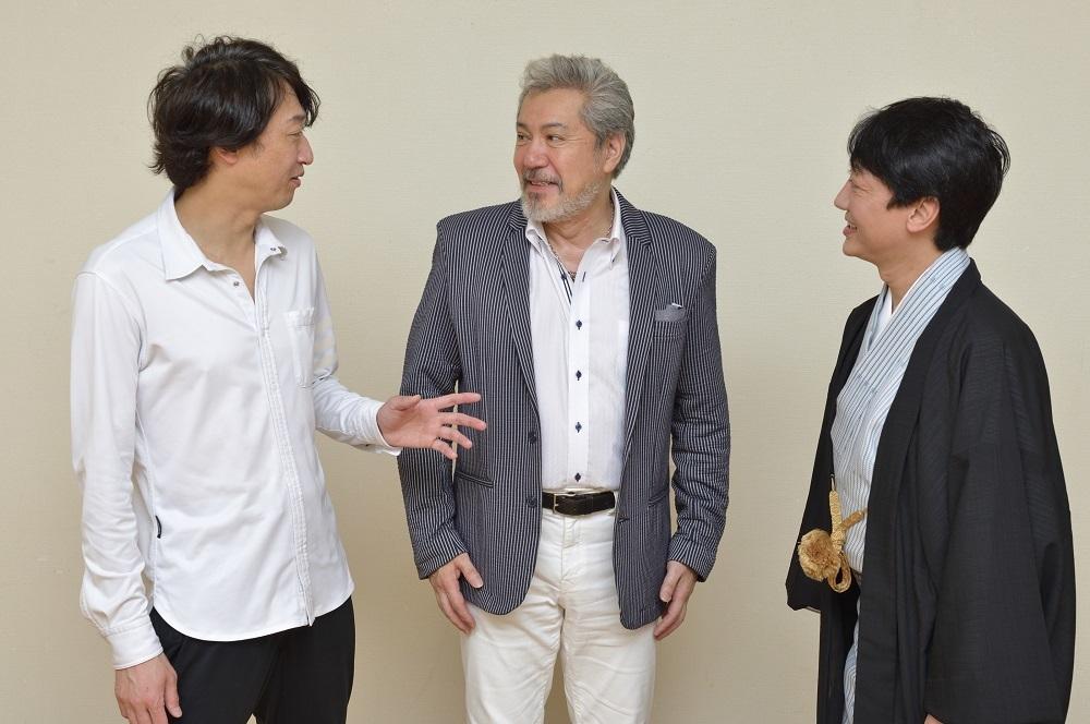 (左から)喜多村緑郎、今井清隆、河合雪之丞