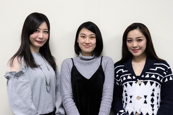(左から)桜のどか、藤原珠恵、石田安奈