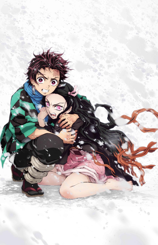 Vアニメ『鬼滅の刃』キービジュアル  (C)吾峠呼世晴/集英社・アニプレックス・ufotable