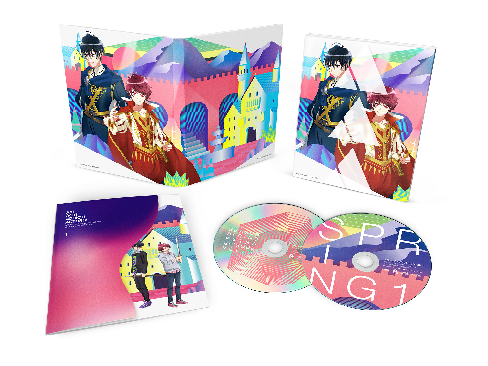 TVアニメ『A3!』Blu-ray&DVD 第1巻 展開  (C)Liber Entertainment Inc. All Rights Reserved.