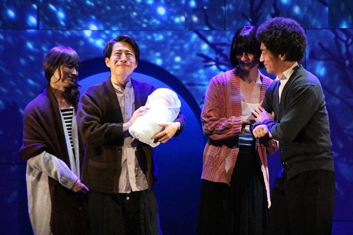 (左から)松田凌、村井良大、馬場良馬、松田賢二