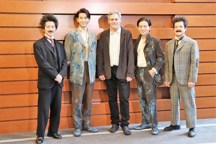 (左から)村井良大、三浦翔平、ランダル・アーニー、岡本健一、川平慈英