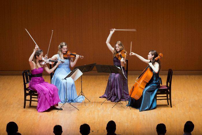 受講生による室内楽コンサート。弦楽器は四重奏、管楽器は五重奏を披露する。曲目は当日のお楽しみ! (c)K.MIURA