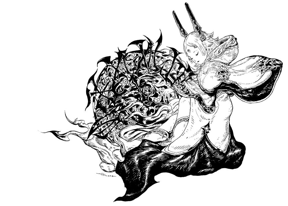 天野喜孝氏によるティザーイラスト :©SQUARE ENIX CO., LTD. All Rights Reserved.  Illustration/(C)2016 YOSHITAKA AMANO