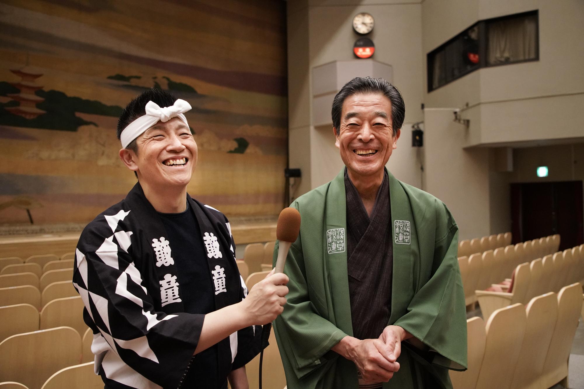 左から 船橋裕一郎、冨士滋美 撮影=岡本隆史(Takashi Okamoto)