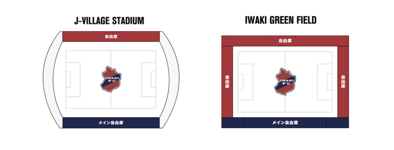 シーズンチケットの対象となる座席図