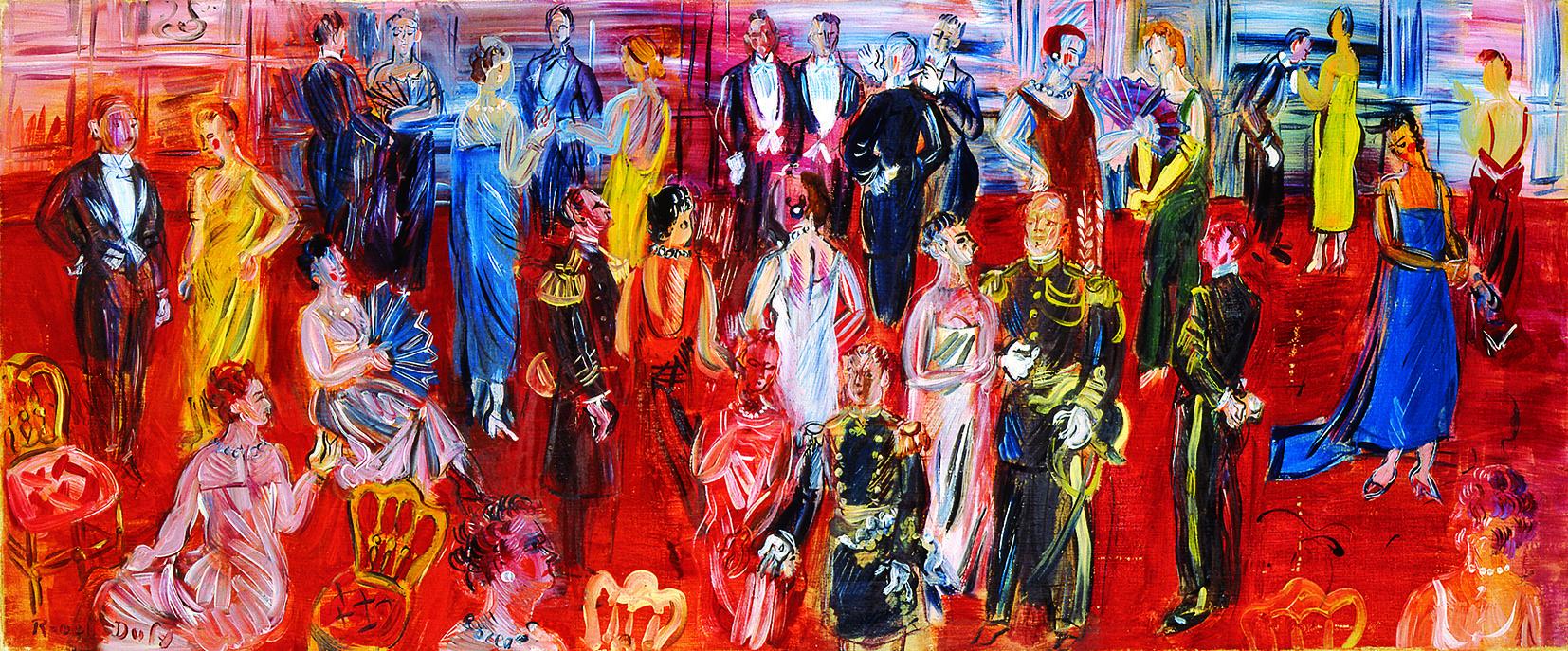 《公式レセプション》 1942年 油彩/キャンバス 大谷コレクション