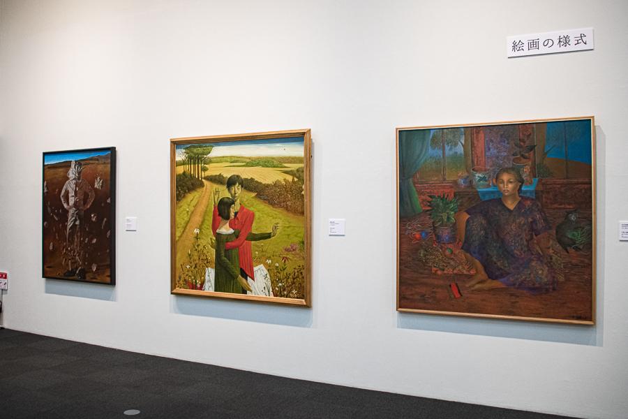 第2章「日常から絵画へ」。作家たちが20~30代半ばに制作した作品が多く、実験的精神が感じられる。
