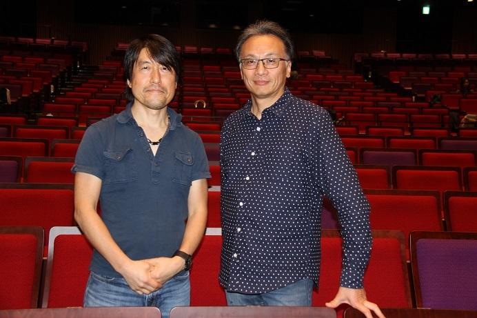 指揮者 牧村邦彦(右)と演出家 井原広樹 (C)H.isojima