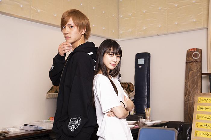 (左から)財木琢磨、田中日奈子