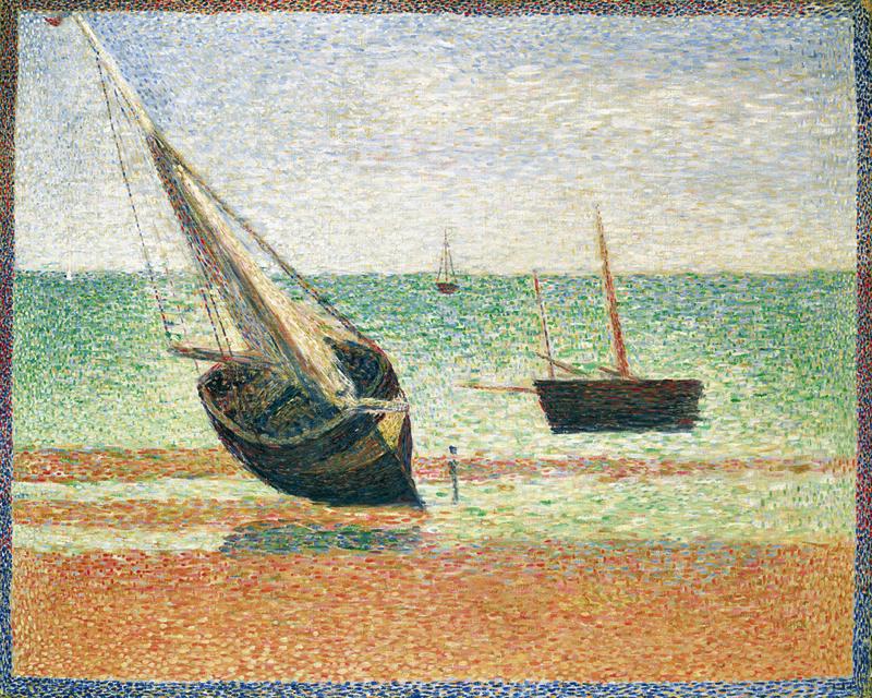 ジョルジュ・スーラ《グランカンの干潮》1885年 ポーラ美術館