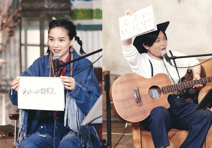 (左から)のん、ひぐちけい 撮影:Kentaro MINAMI