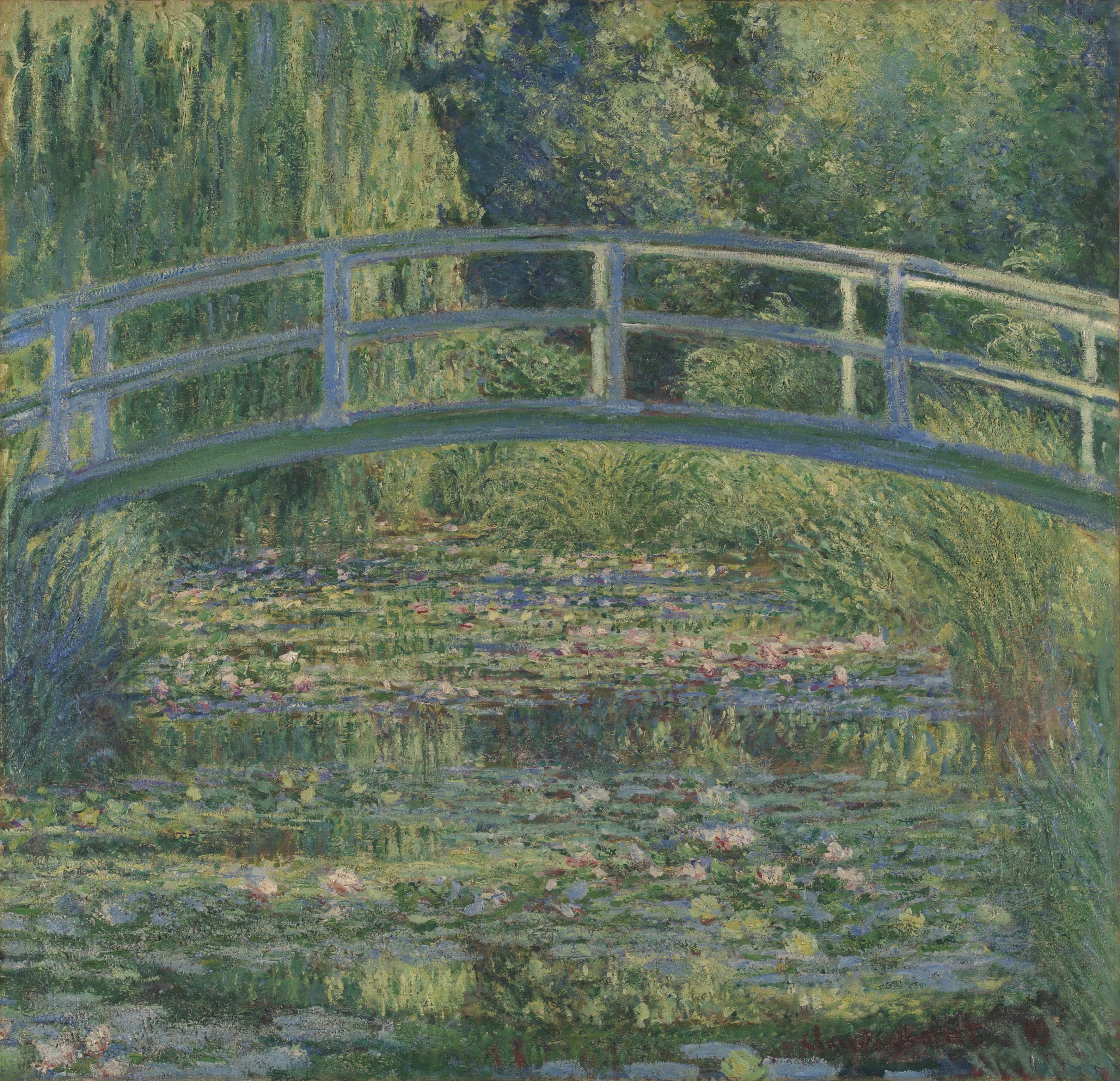 クロード・モネ 《睡蓮の池》 1899年 油彩・カンヴァス 88.3×93.1cm (C)The National Gallery, London. Bought, 1927