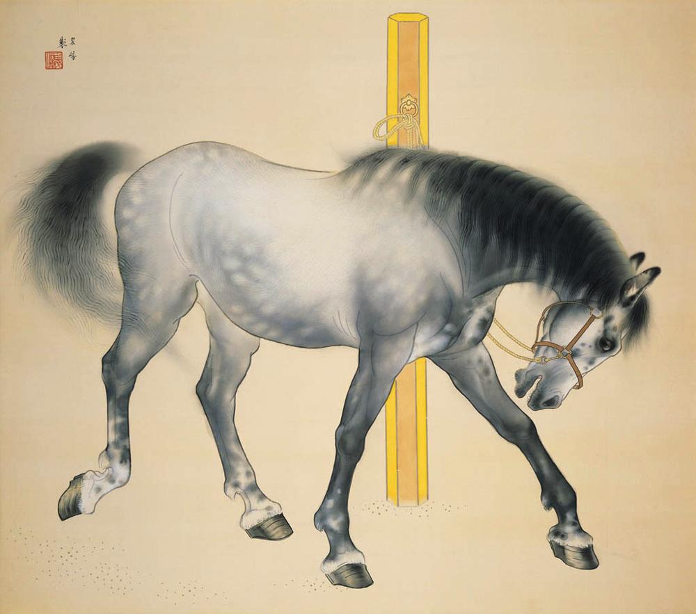 西山翠嶂《馬》  主催:京都市、美術館「えき」KYOTO、京都新聞