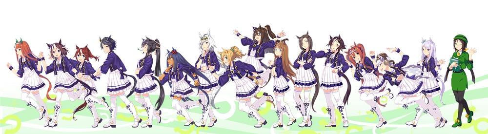 今回イベントに登場するキャラクターと駿川を含む16人のイラスト
