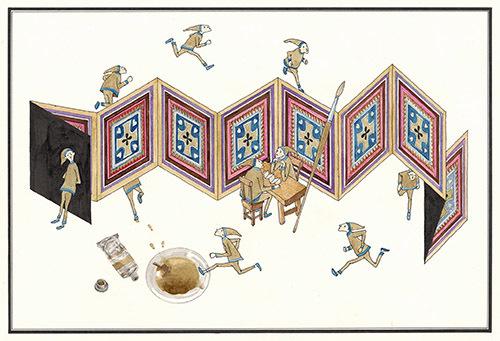 『ふしぎなえ』20-21P 1968年 津和野町立安野光雅美術館蔵 (C)空想工房