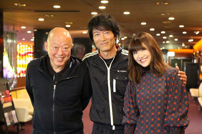 (左から)六平直政、寺脇康文、宮澤佐江
