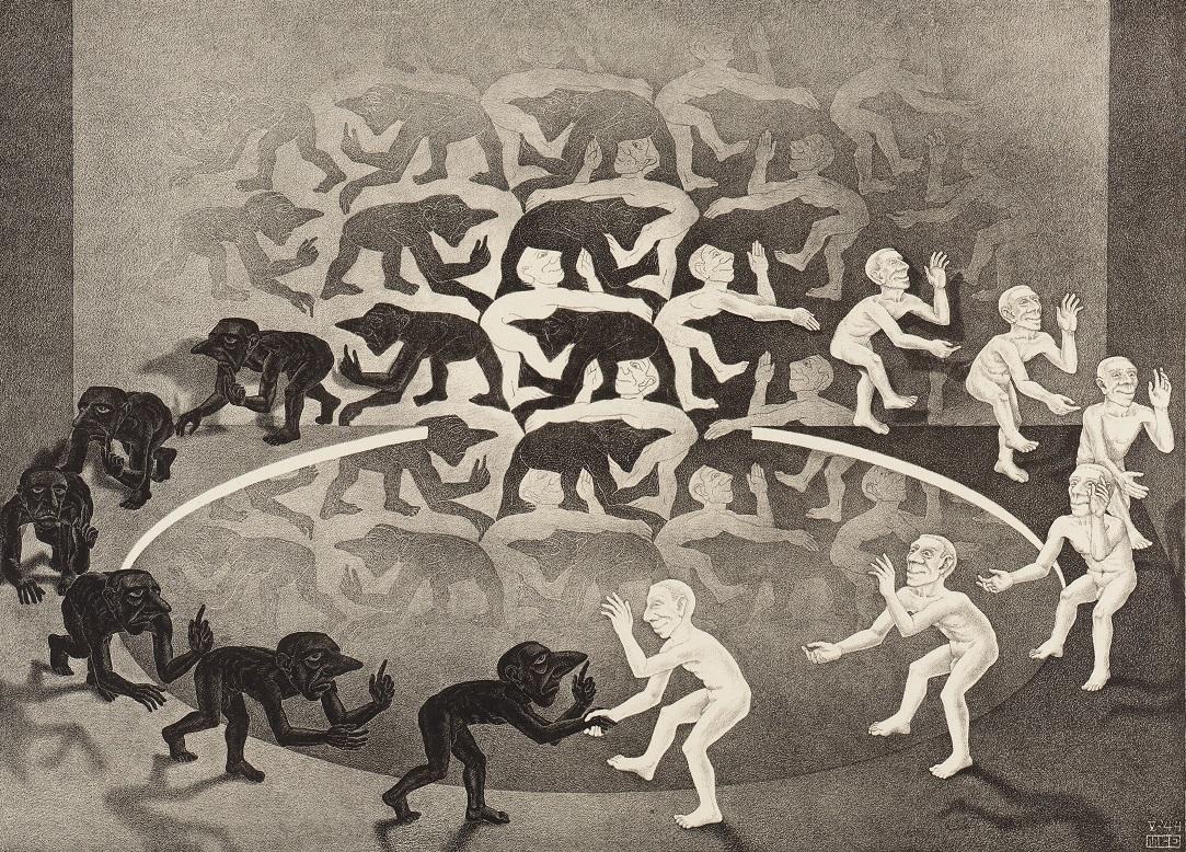 《出会い Encounter.1944》 Copyright Credit: All M.C. Escher works