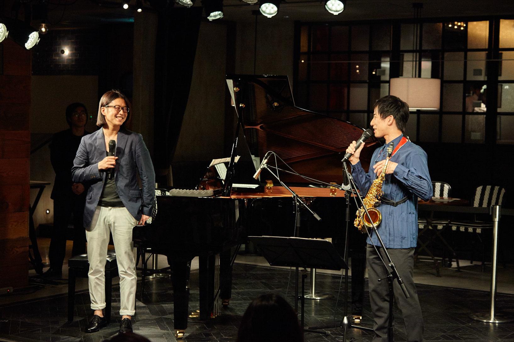 反田恭平(ピアノ)、上野耕平(サックス)