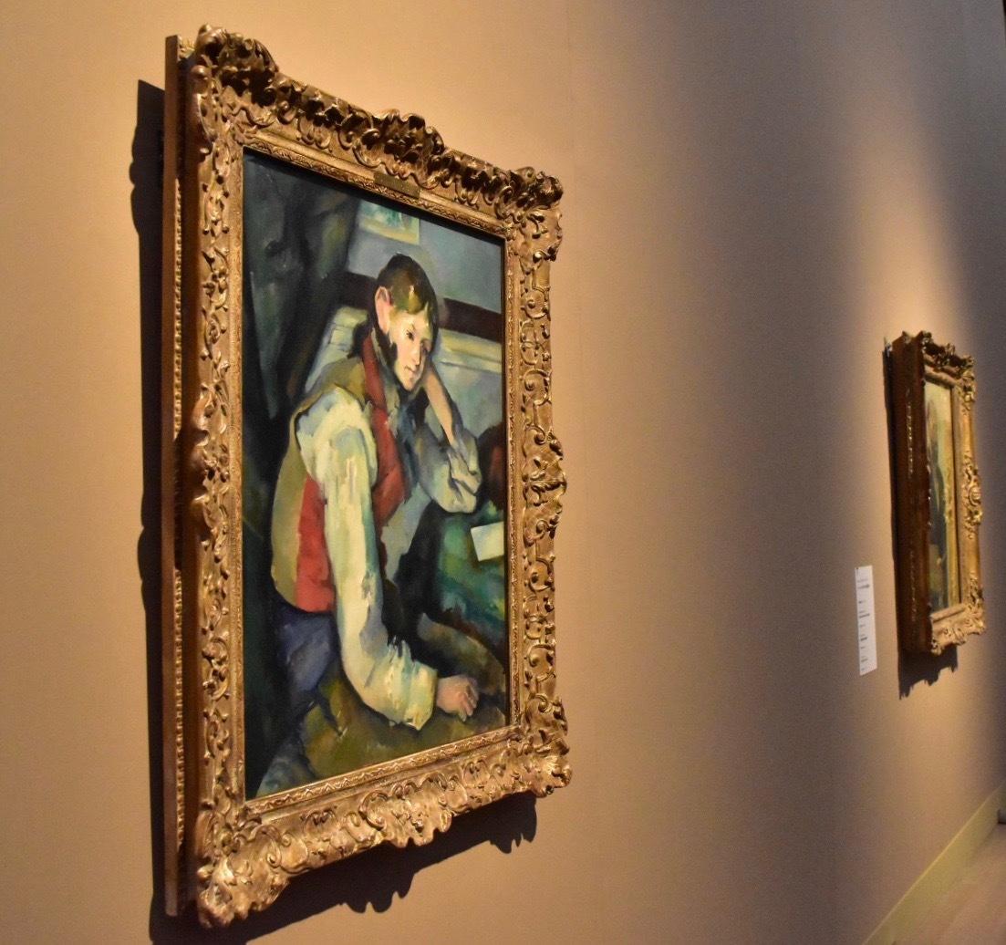 ポール・セザンヌ 《赤いチョッキの少年》 1888-90年