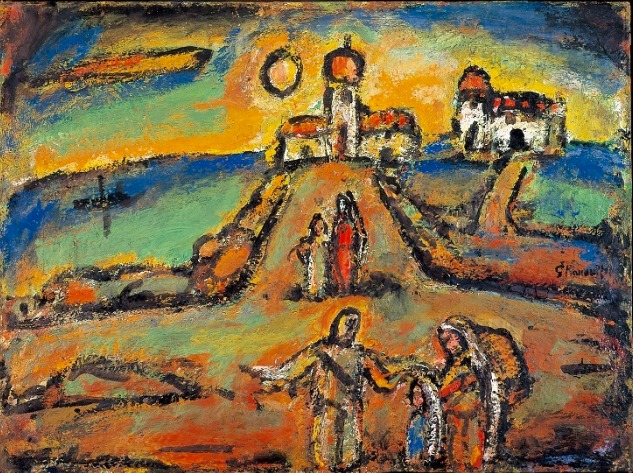 ジョルジュ・ルオー《秋の夜景》1952年 パナソニック 汐留ミュージアム蔵