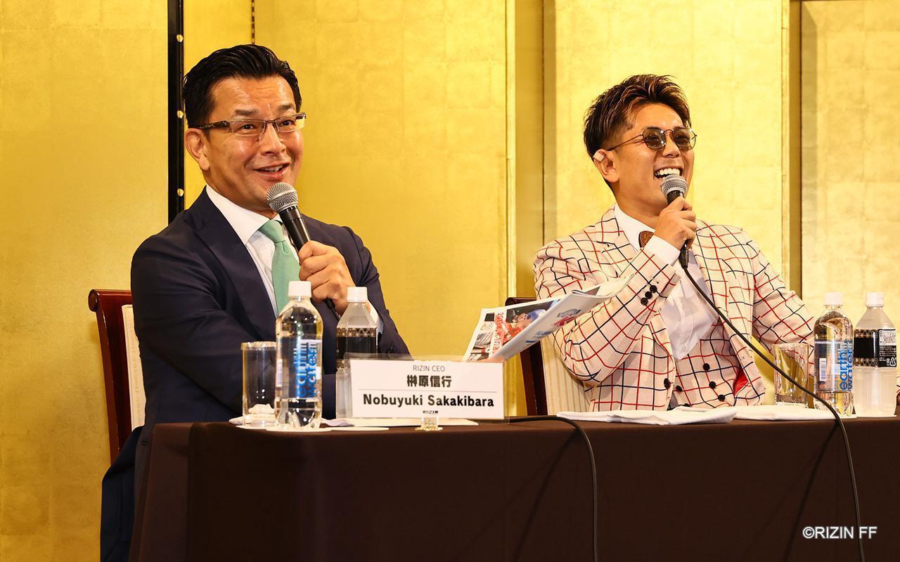 榊原CEOは「皇治選手が一番輝いていた試合」と返す