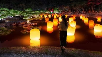 """""""お庭の国宝""""栗林公園がチームラボにより光のアート空間に『チームラボ 栗林公園 光の祭』開催"""