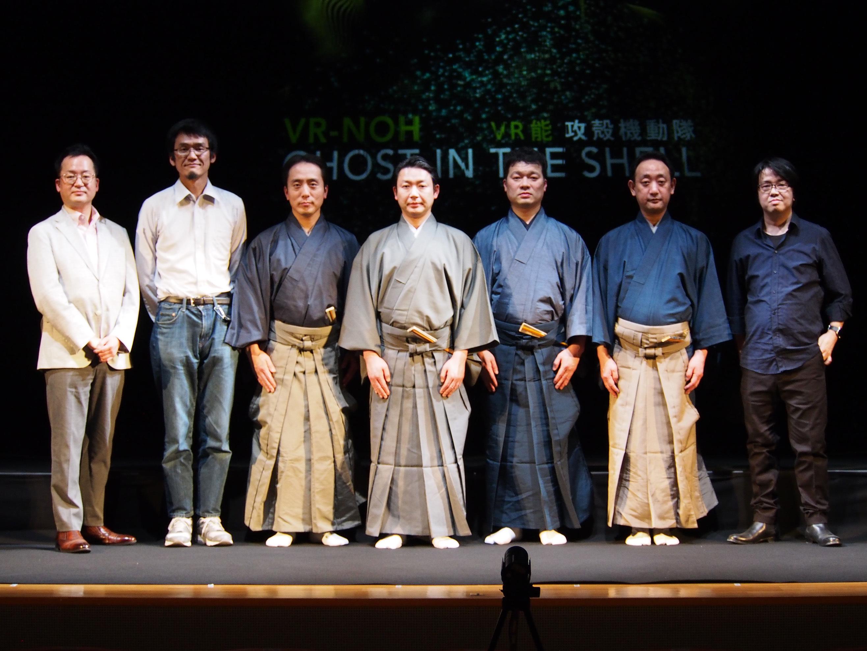 左から稲見昌彦氏、福地健太郎氏、大島輝久、坂口貴信、川口晃平、谷本健吾、奥秀太郎