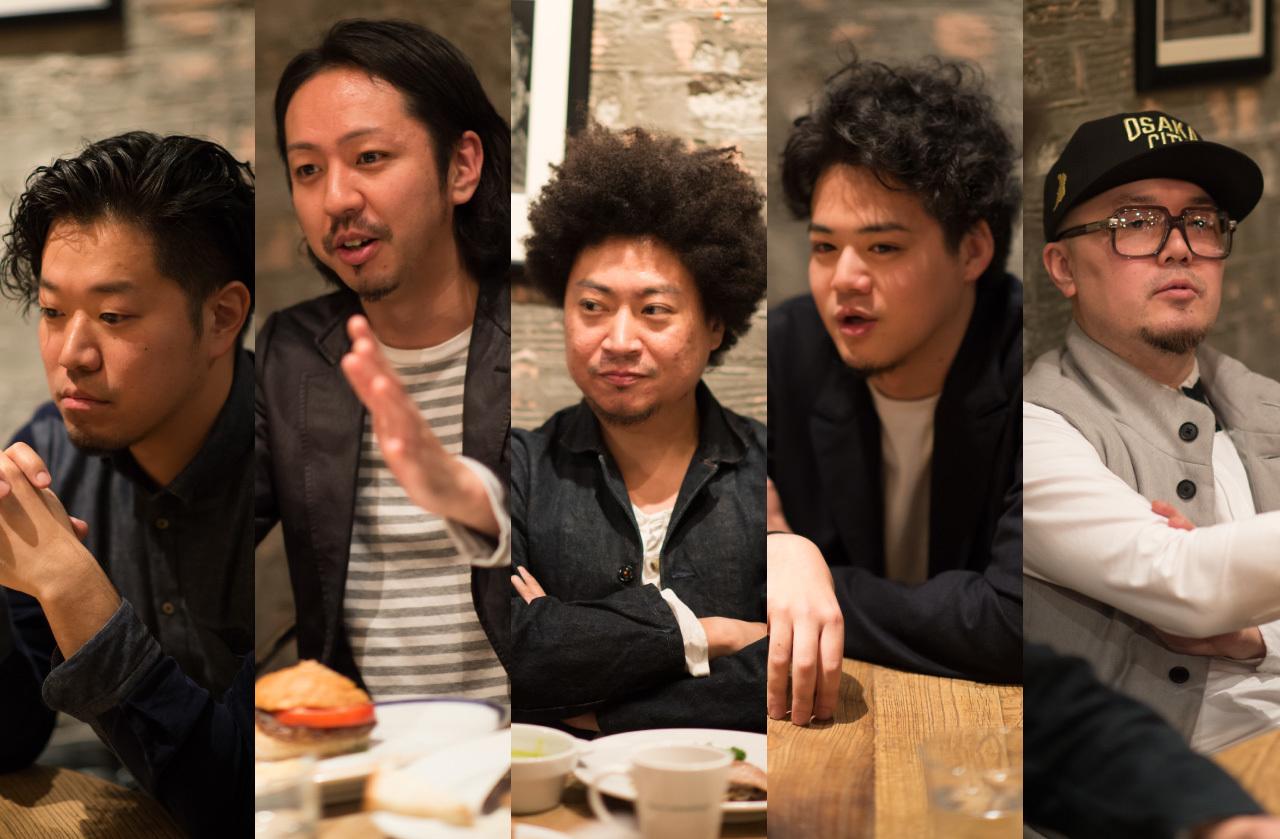 左から、西口明宏、中林薫平、黒田卓也、宮川純、柴田亮