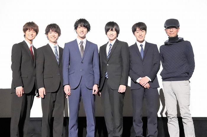 (左から)正木郁。溝口琢矢、渡部秀、荒牧慶彦、富田健太郎、千葉誠治監督