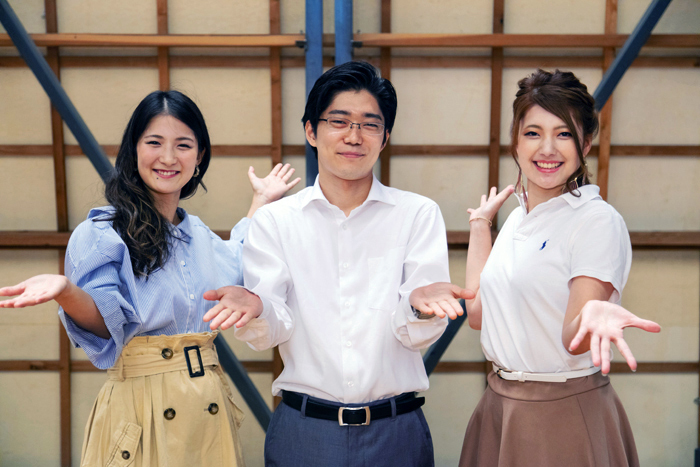 STAND UP! ORCHESTRAより、飯尾久香(チェロ)、桐原宗生(ヴァイオリン)、若田典子(トロンボーン)