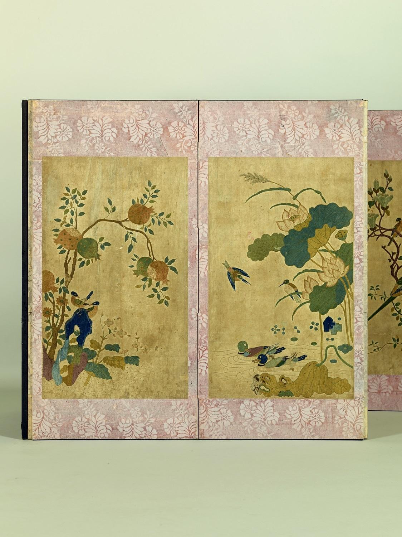 花鳥図屏風 朝鮮 朝鮮時代・19世紀 小倉コレクション保存会寄贈