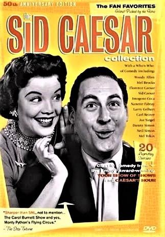 シド・シーザーの名場面で構成されたDVDのジャケット(輸入盤)。右がシーザー、隣は『シーザーズ・アワー』(1954~57年)で共演したナネット・ファブレイ(映画『バンド・ワゴン』)。