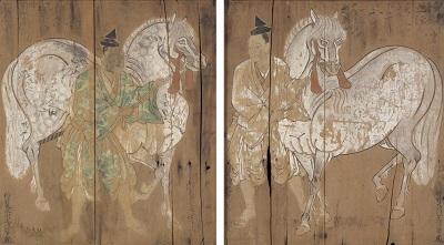 重要文化財 神馬図額 狩野元信筆 二面 室町時代 16世紀 兵庫・賀茂神社 画像提供:東京国立博物館 Image:TNM Image Archives 【展示期間:9/16~10/23】
