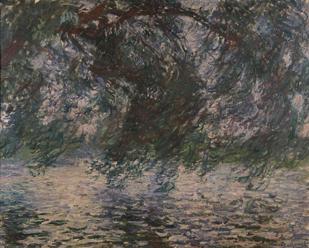 クロード・モネ《柳》1897-98年頃 油彩、キャンヴァス 71.0x89.5㎝ 個人蔵(国立西洋美術館に寄託)